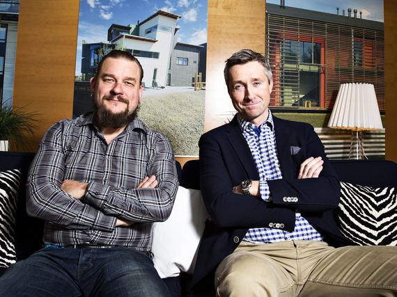 Markkinointijohtaja Ville Toriseva (vas.) ja toimitusjohtaja Harri Tuomaala  rakentavat Suomen Asuntomessuja tapahtumaa suuremmaksi tekijäksi. 2f4b884e97