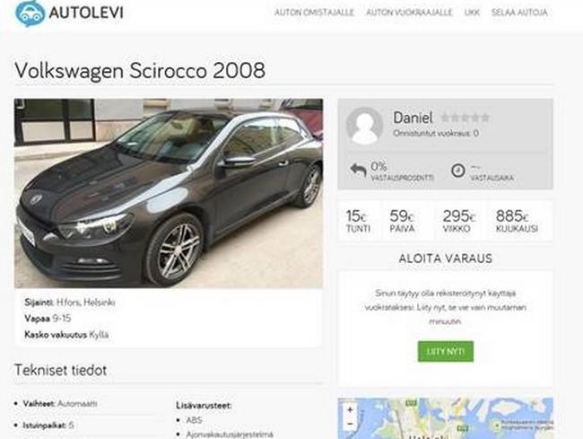 Investoimalla autoon voi tienata rahaa