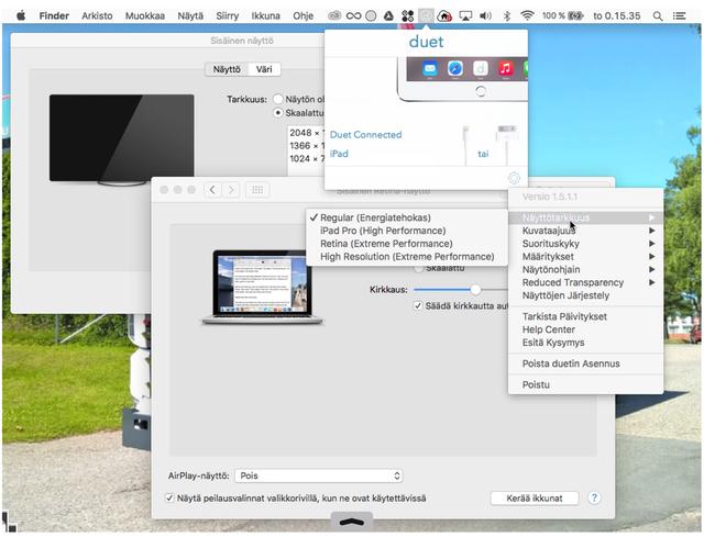 Kytkeä kolme näyttöä Windows 8
