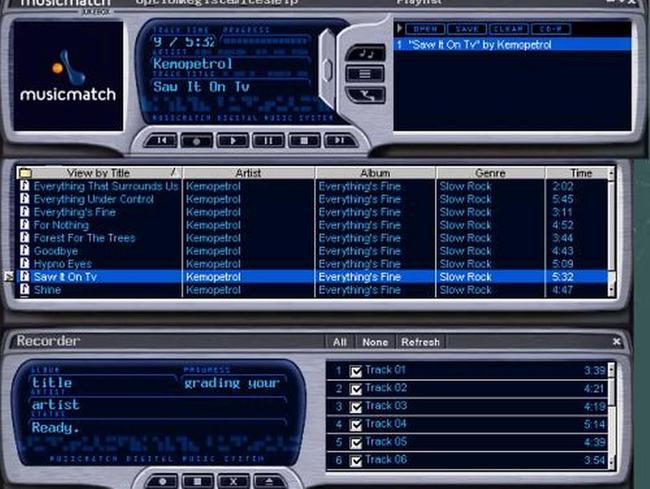 Musicmatch Jukebox for Linux | Tivi